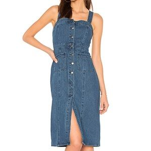 BB Dakota Lauren Denim Overalls Dress | Size 4